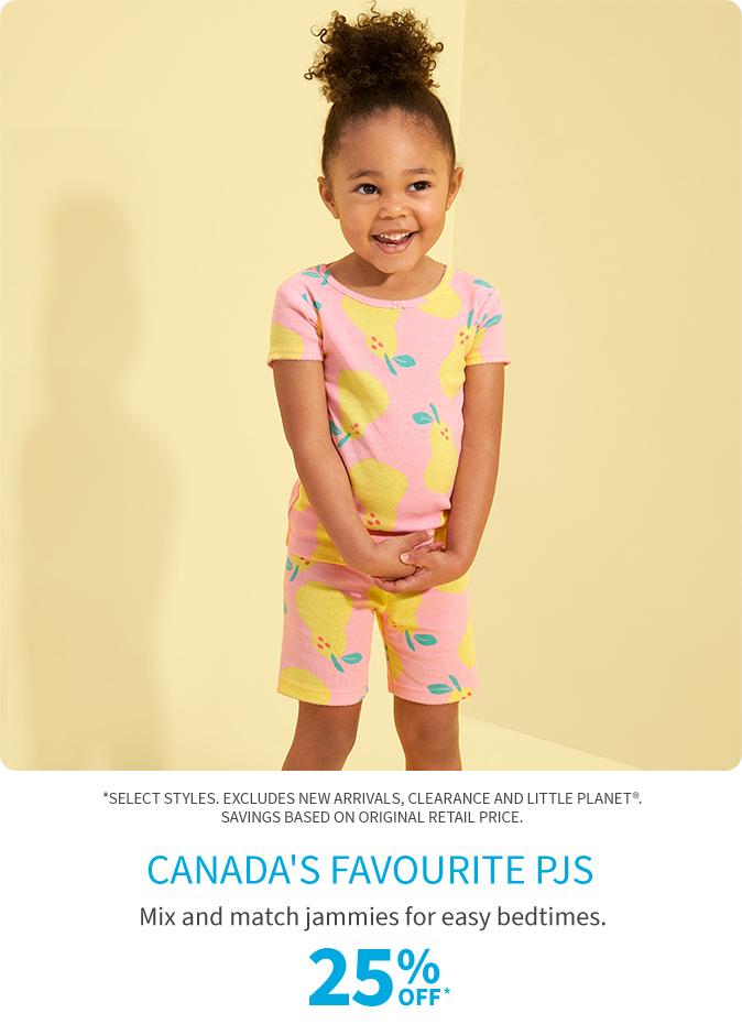 canada's favourite pjs 25% off*