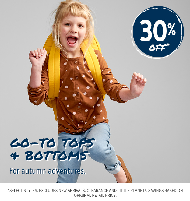 30% OFF GO TO TOPS AND BOTTOMS