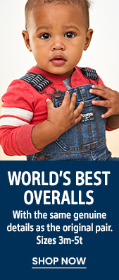 World's Best Overalls | With the same genuine details as the original pair. Sizes 3m-5t | SHOP NOW