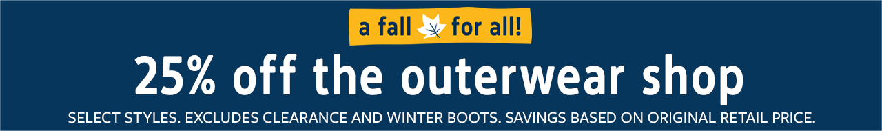 a fall for all | 25% off the outerwear shop