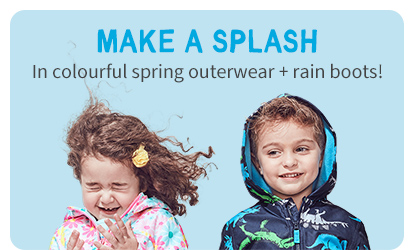 MAKE A SPLASH | In colourful spring outerwear + rainboots!