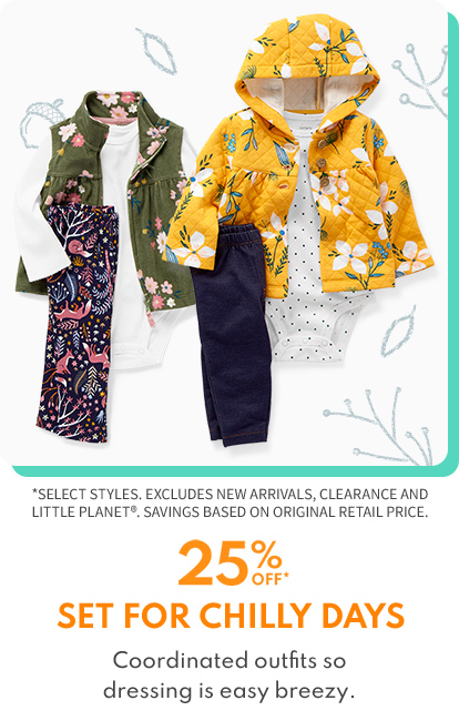 25% OFF SET FOR CHILLY DAYS