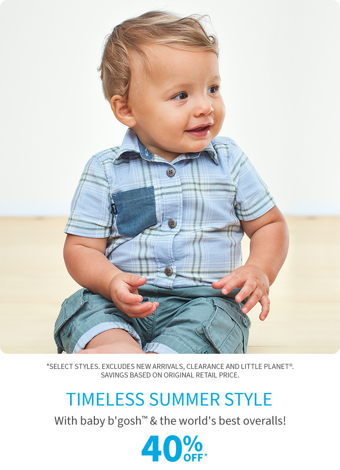 timeless summer style 40% off*