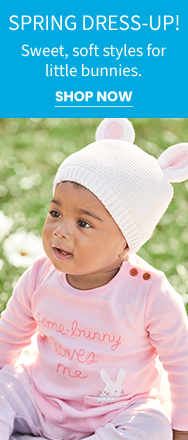 SPRING DRESS-UP! Sweet, soft styles for little bunnies. | SHOP NOW