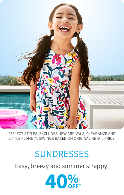 sundresses 40% off*
