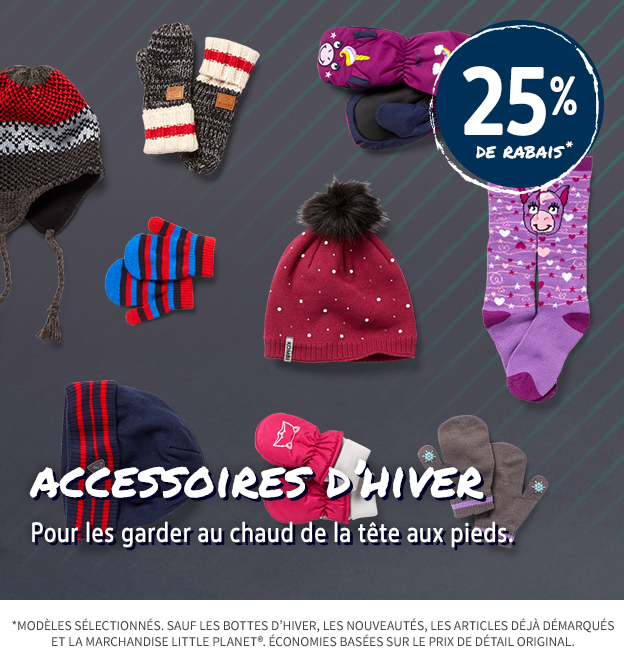 25% OFF COLD WEATHER ACCESSORIES