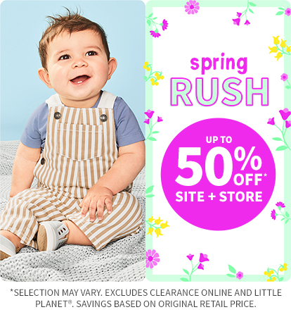 Spring Rush up to 50% off site + store
