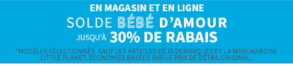 SOLDE BÉBÉ D'AMOUR | JUSQU'À 30% de rabais De Rabais Tout En Ligne + Magasin