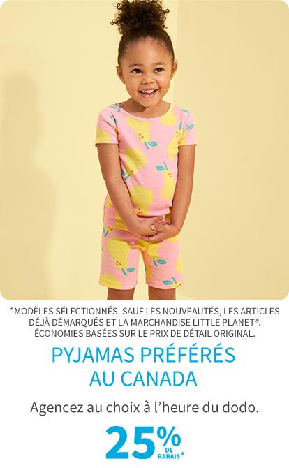 Pyjamas preferes au canada 25% de rabais*