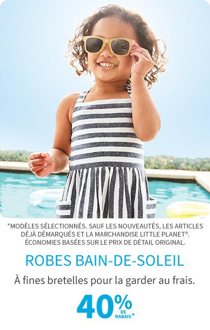 Robes Bain-de-soleil 40% de rabais*