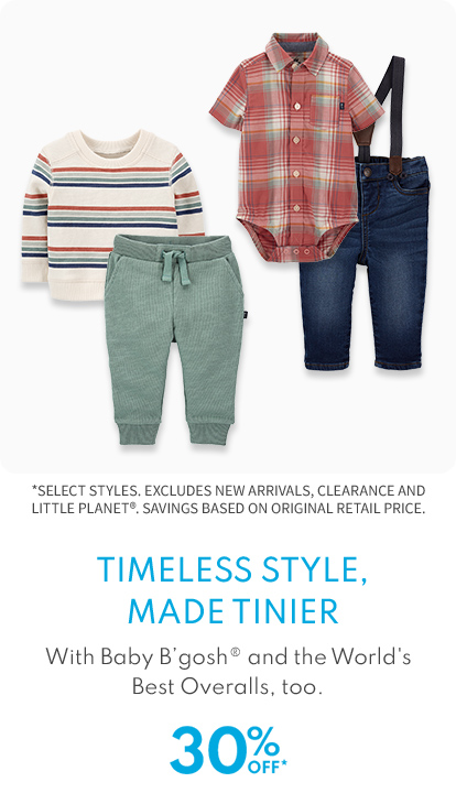 Timeless style made tinier 30% off*