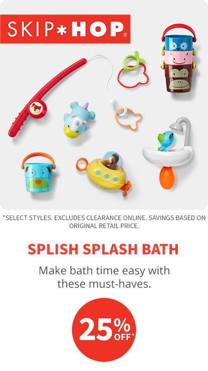 splish splash bath 25% off*