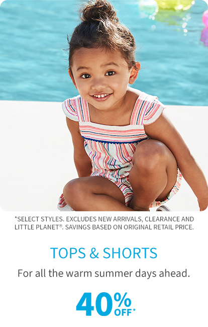 tops & shorts 40% off