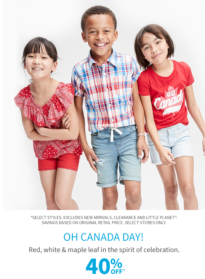 Oh Canada Day! 40% off*