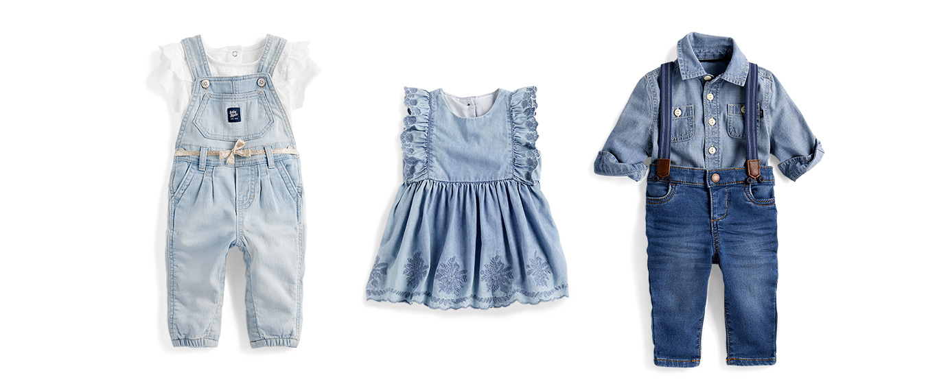New baby blues | Super soft knit denim, the sweetest little details and more for Baby B'gosh.