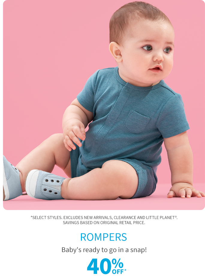 Rompers 40% off*