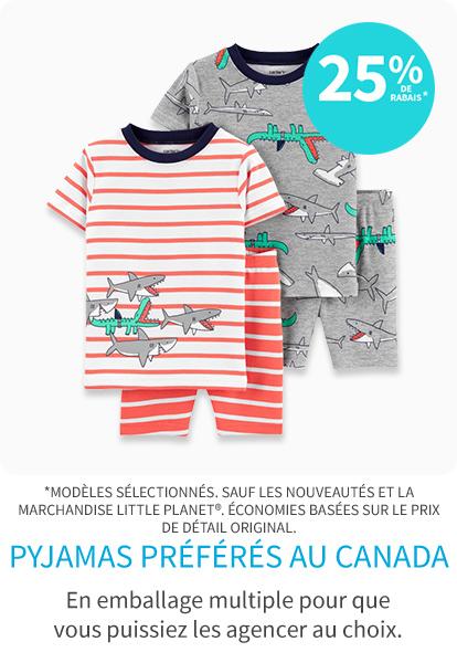 Nouveau! Pyjamas Préférés au Canada 25% de rabais