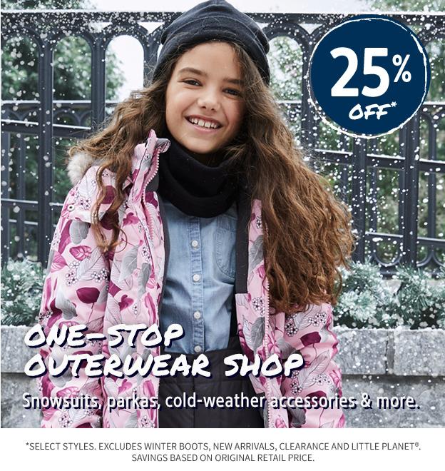 25% OFF OUTERWEAR SHOP