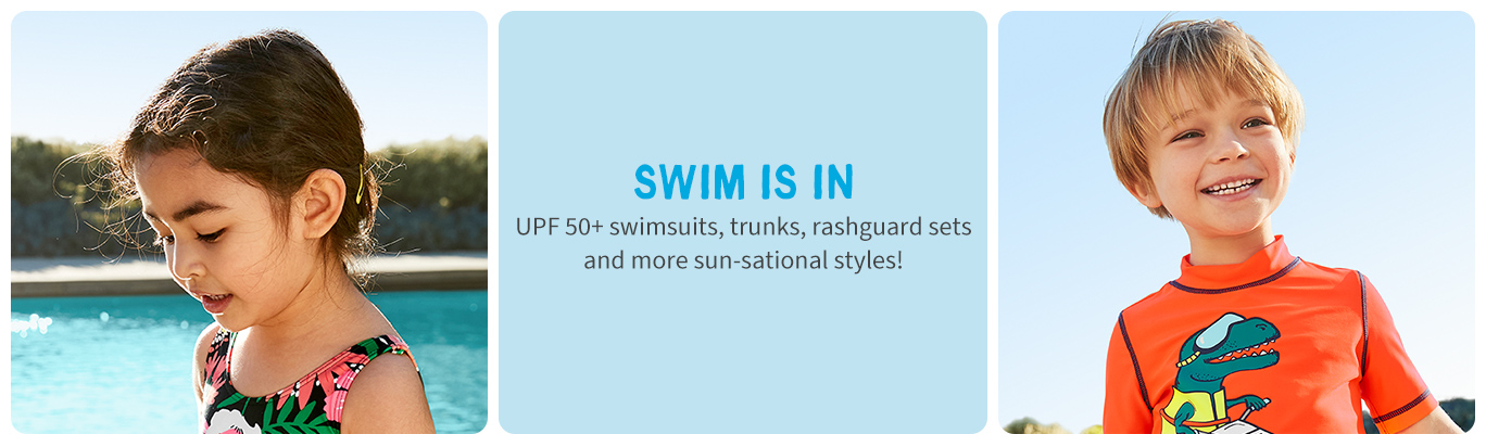 SWim is in UPF 50+ | swimsuits, trunks, rashquards & more!