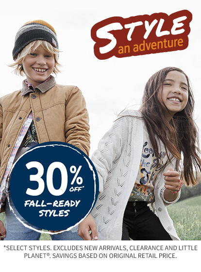 30% OFF STYLE AN ADVENTURE