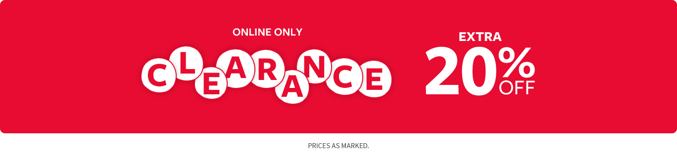 Extra Clearance 20% off