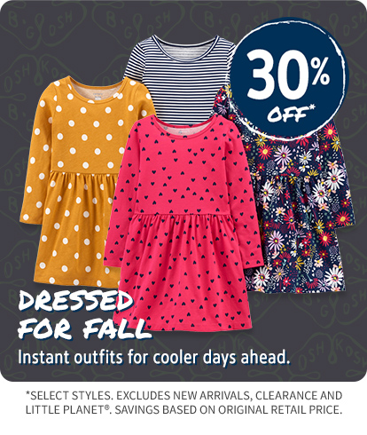 30% OFF DRESSED FOR FALL