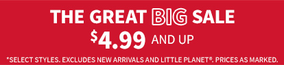 The great big sale $4.99 and up