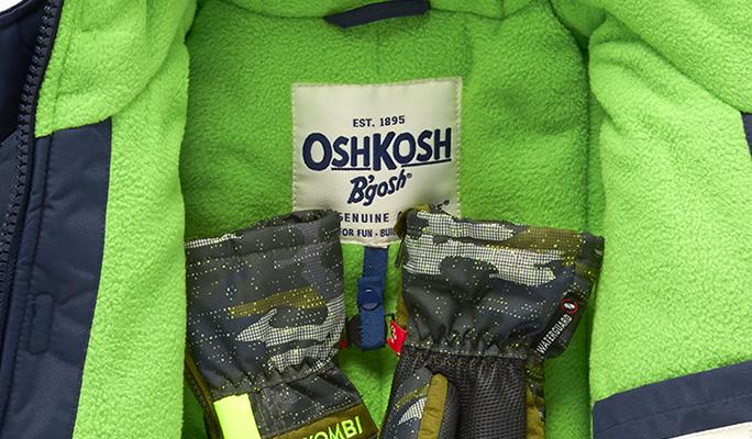 Parka OshKosh bleue à l'intérieur