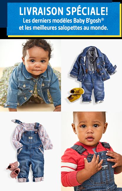 LIVRAISON SPÉCIALE! | Les derniers modèles Baby B'Gosh® et les meilleures salopettes au monde.
