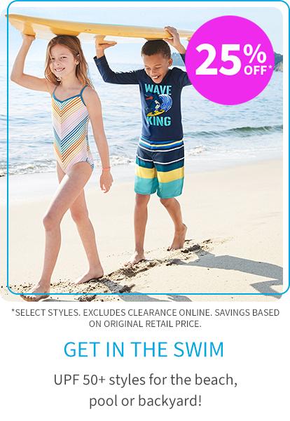 25% off* swim