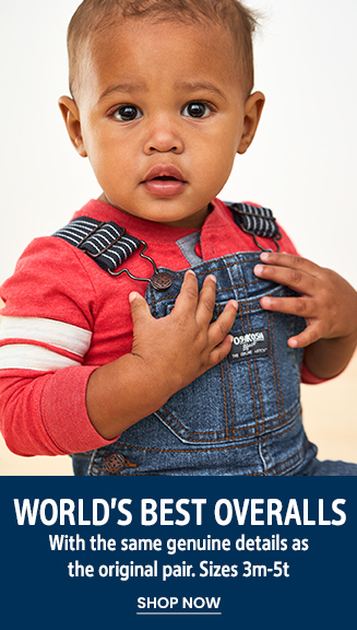 World's Best Overalls   With the same genuine details as the original pair. Sizes 3m-5t   SHOP NOW