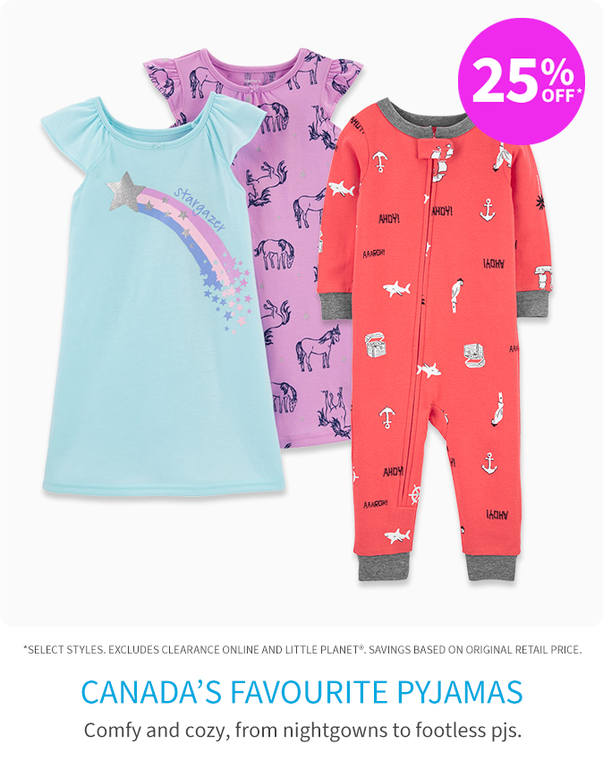 25% off* pyjamas