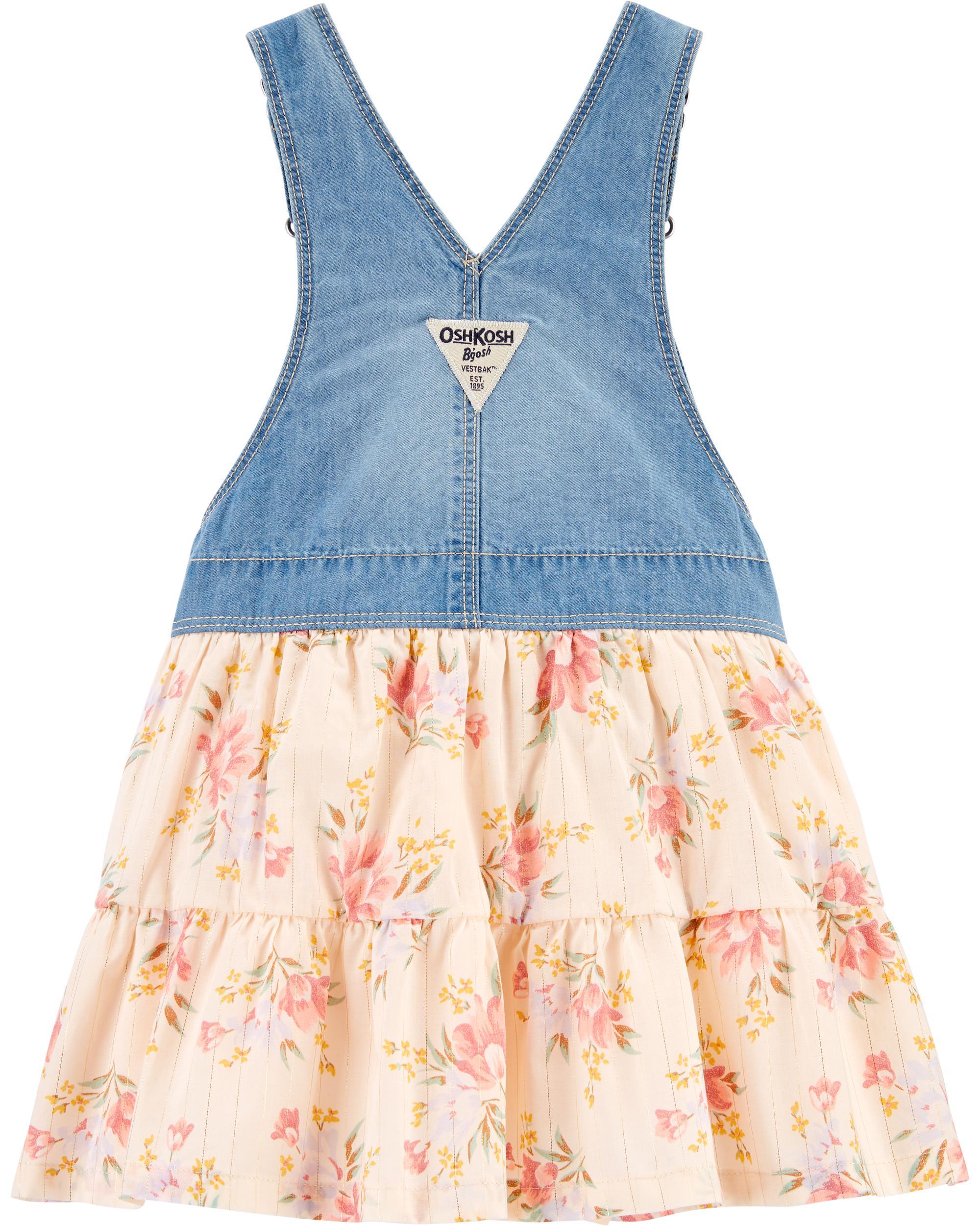 Girl Jumper Baby Jumper Kenzer  Jumper Blue Floral Mix-match Jumper