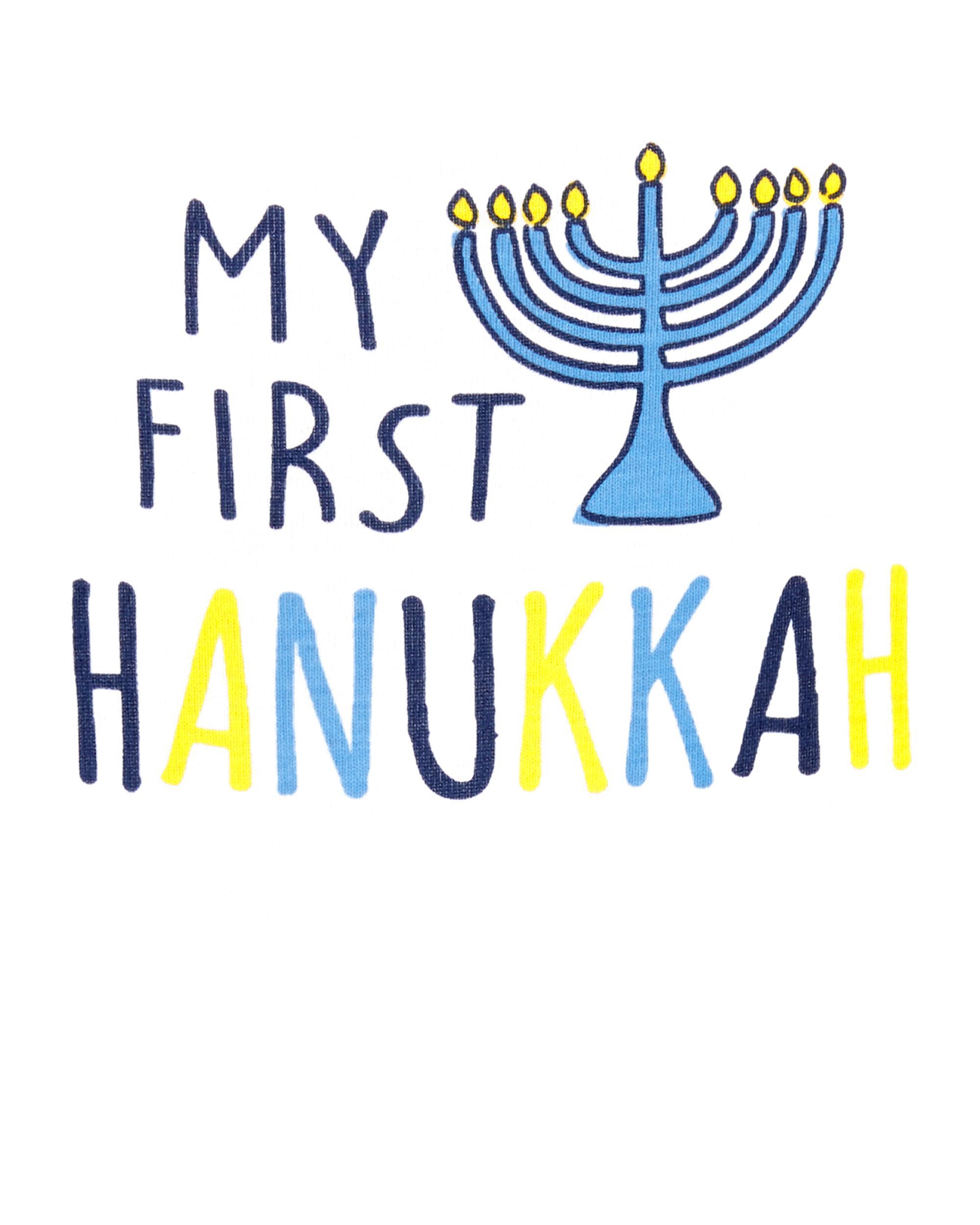 Carters My First Hanukkah Collectible Bodysuit Long Sleeve Boys Girls