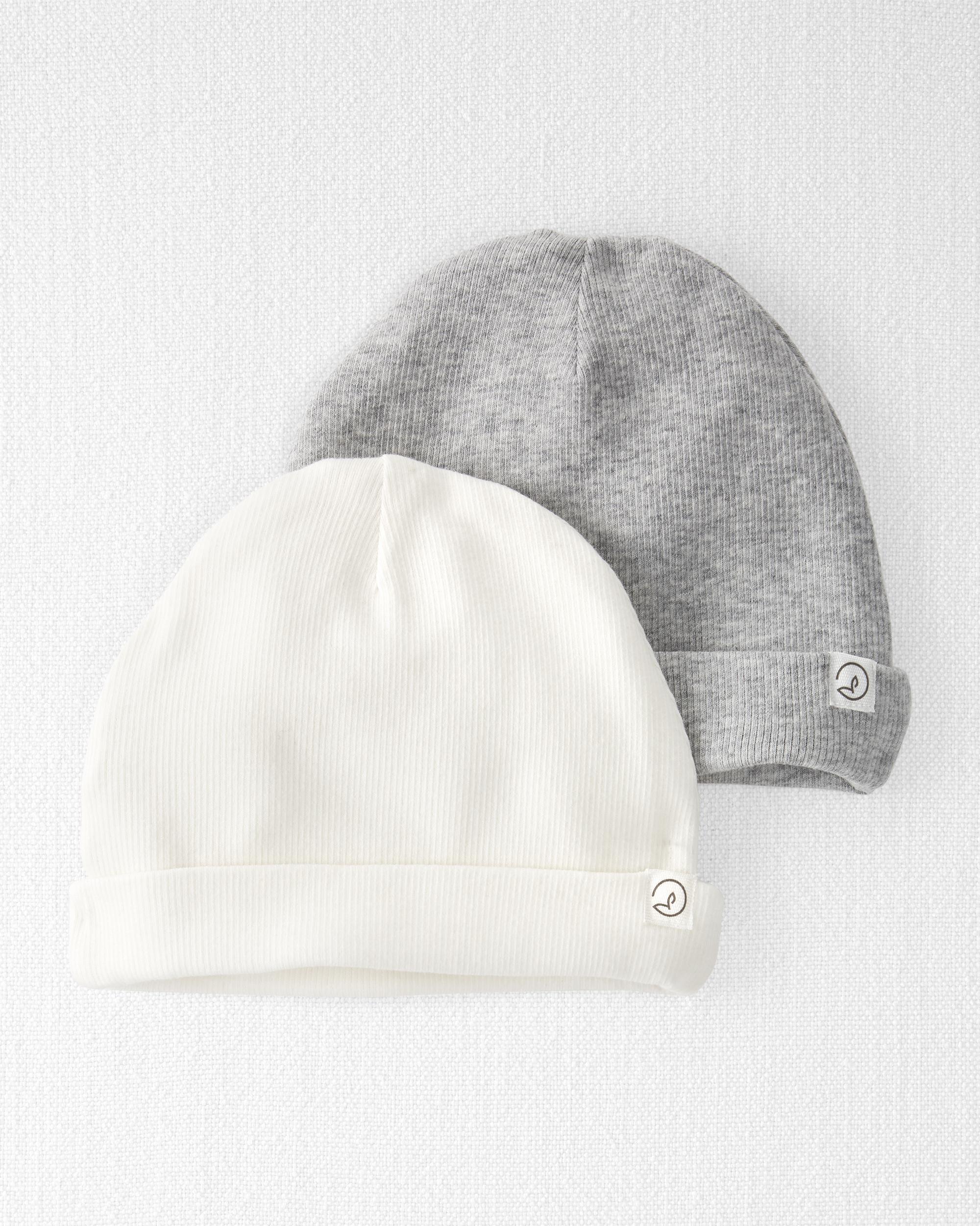 2-Pack Organic Cotton Rib Caps, , hi-res
