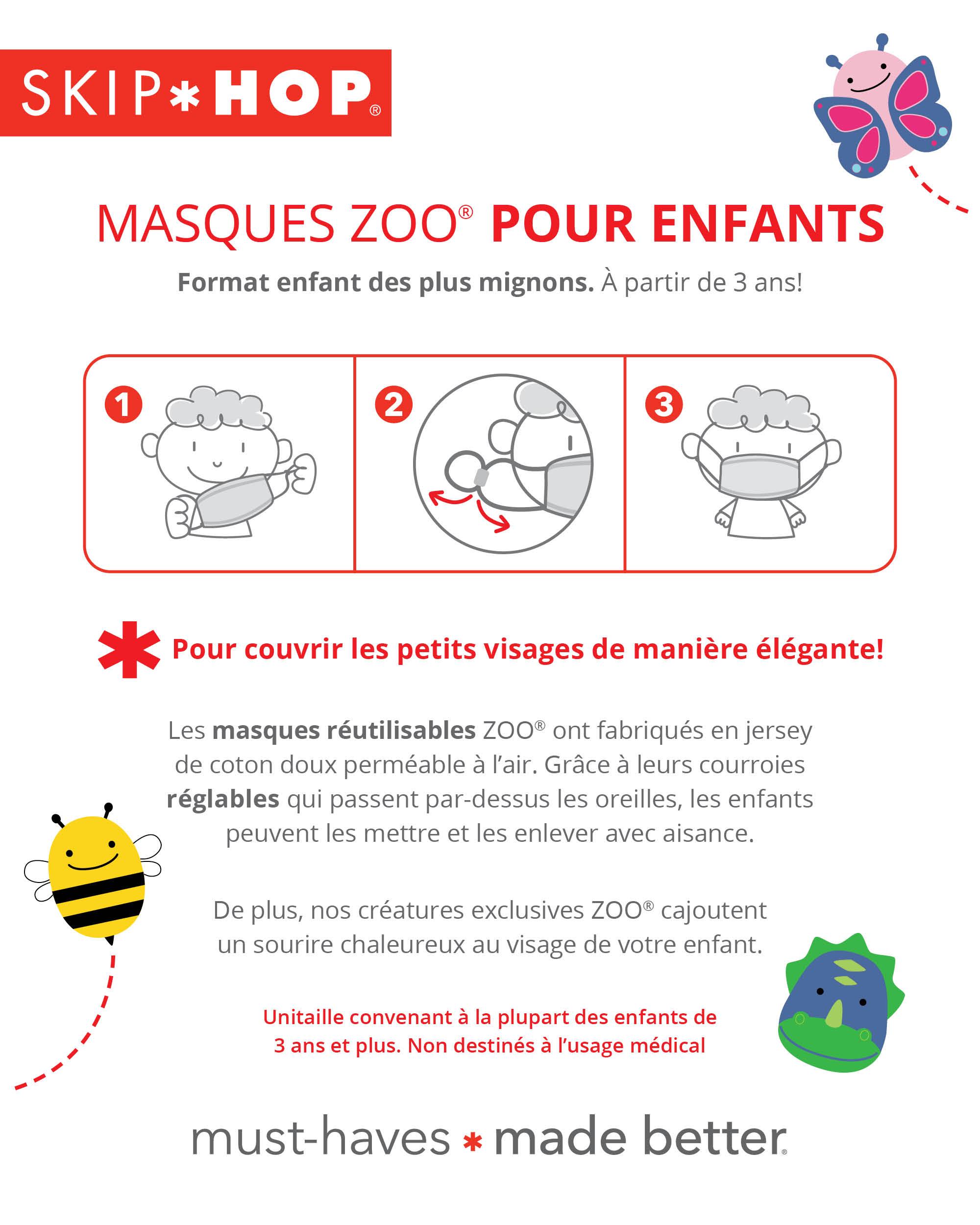 Masques ZOO® pour enfants – Dino